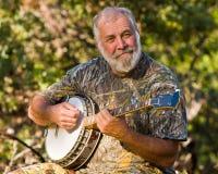 Giocatore del banjo Immagini Stock
