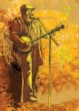 Giocatore del banjo illustrazione vettoriale