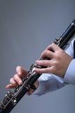 Giocatore del clarinetto Immagini Stock