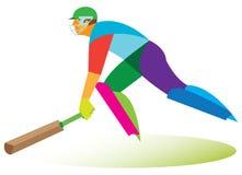 Giocatore del cricket Immagine Stock Libera da Diritti