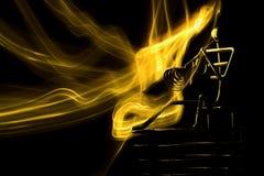 Giocatore del fuoco Fotografie Stock