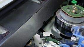 Giocatore del HQ di VHS con la cassetta, vecchio tecnology archivi video