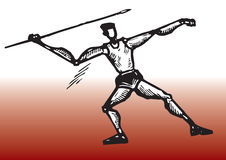 Giocatore del Javelin Fotografia Stock