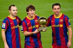 Giocatore del mondo del Leo Messi la FIFA Fotografie Stock Libere da Diritti