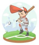 Giocatore del ragazzo di baseball Fotografie Stock Libere da Diritti