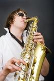 Giocatore del sassofono Immagine Stock Libera da Diritti