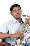 Giocatore del sax Immagine Stock