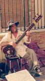Giocatore del sitar Fotografia Stock