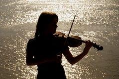 Giocatore del violino Fotografia Stock Libera da Diritti