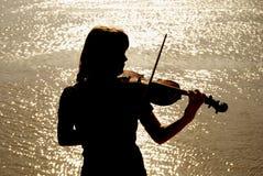 Giocatore del violino Immagini Stock Libere da Diritti