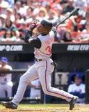 Giocatore dell'area outfield Michael Tucker di Cincinnati Reds Immagini Stock Libere da Diritti