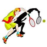 Giocatore dell'uomo di tennis Fotografie Stock