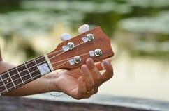 Giocatore delle ukulele Fotografia Stock