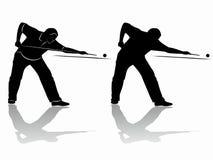 Giocatore dello snooker della siluetta Illustrazione di vettore Immagine Stock Libera da Diritti