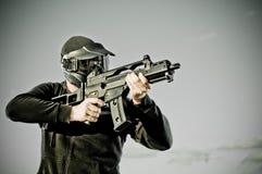 Giocatore di Airsoft Fotografia Stock Libera da Diritti