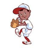 Giocatore di baseball con la palla ed il guanto Immagine Stock Libera da Diritti