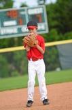 Lanciatore nervoso di baseball Immagini Stock