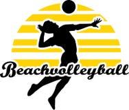 Giocatore di beach volley Fotografie Stock