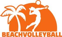 Giocatore di beach volley Immagini Stock Libere da Diritti
