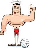 Giocatore di beach volley potabile fumetto Immagini Stock