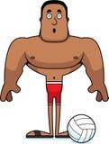 Giocatore di beach volley sorpreso fumetto Fotografia Stock Libera da Diritti