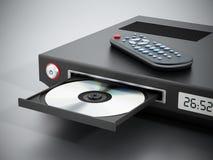 Giocatore di Blu-ray con il vassoio aperto del disco Fotografie Stock