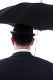 Giocatore di bocce ed ombrello Fotografie Stock Libere da Diritti