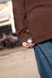 Giocatore di Boules Immagini Stock Libere da Diritti