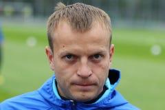 Giocatore di calcio nazionale Team Oleg Gusev dell'Ucraina Fotografia Stock Libera da Diritti