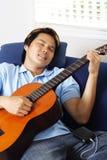 Giocatore di chitarra Fotografia Stock Libera da Diritti