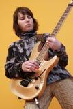 Giocatore di chitarra fotografie stock