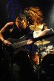 Giocatore di chitarra bassa Masaki Fotografia Stock