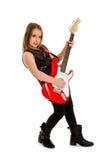 Giocatore di chitarra della ragazza fotografia stock libera da diritti