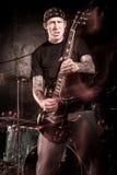 Giocatore di chitarra di metalli pesanti Immagine Stock Libera da Diritti