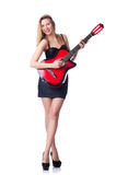 Giocatore di chitarra femminile Fotografia Stock
