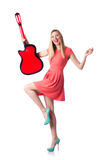 Chitarra femminile Immagini Stock Libere da Diritti