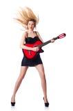 Chitarra femminile Immagini Stock