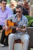 Giocatore di chitarra via/di Zagabria Fotografia Stock Libera da Diritti