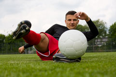 Giocatore di football americano 2 immagini stock