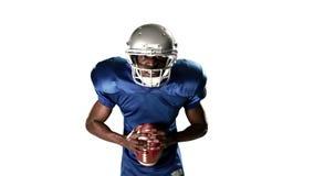 Giocatore di football americano archivi video