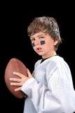 Giocatore di football americano del bambino fotografie stock