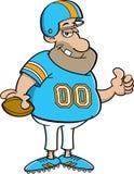 Giocatore di football americano del fumetto Immagine Stock