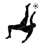 Giocatore di football americano della siluetta Fotografie Stock