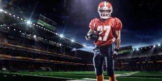 Giocatore di football americano di Americam Fotografie Stock Libere da Diritti