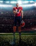 Giocatore di football americano di Americam Immagine Stock