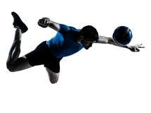 Giocatore di football americano di calcio dell'uomo Fotografie Stock