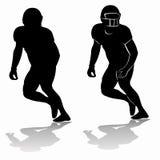 Giocatore di football americano, disegno di vettore Fotografia Stock
