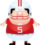 Giocatore di football americano felice del fumetto Fotografie Stock