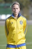 Giocatore di football americano femminile svedese - Lisa Dahlkvist Fotografia Stock Libera da Diritti