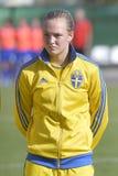 Giocatore di football americano femminile svedese - Magdalena Ericsson Fotografia Stock Libera da Diritti